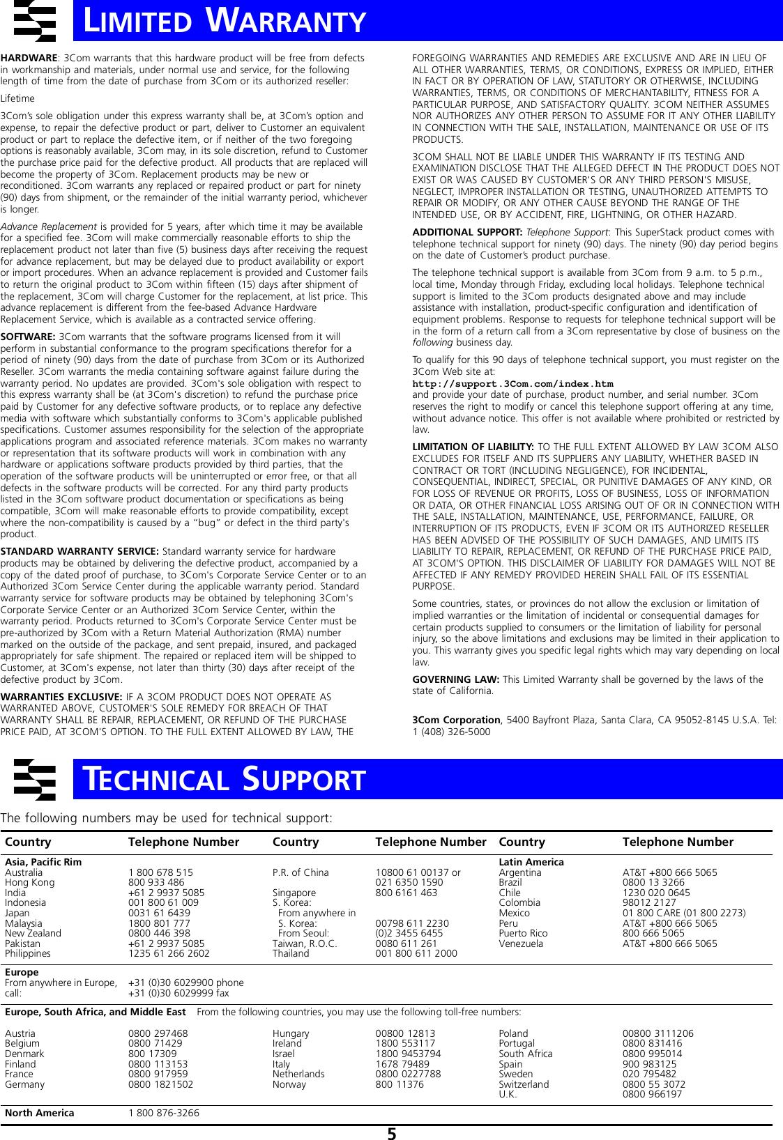 3C16978 3Com SuperStack II Switch 1000BASE-T Module