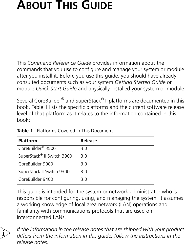 3Com 3500 Owners Manual Command Reference Guide