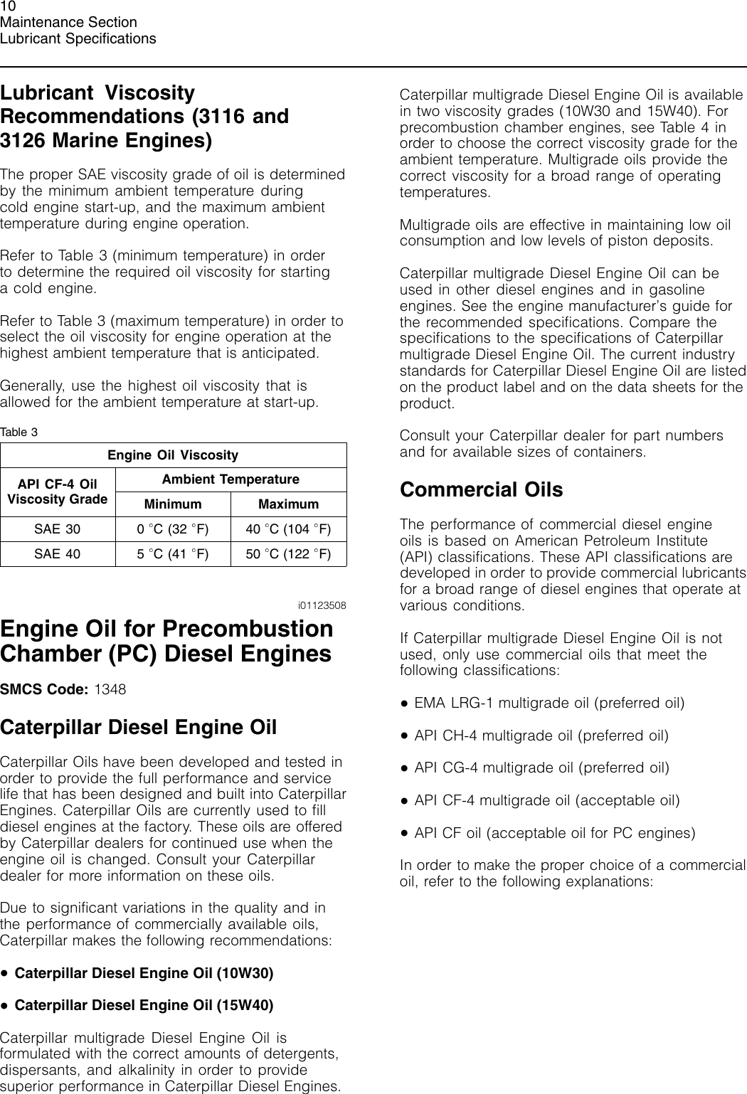 3Com Caterpillar Commercial Diesel Engine Sebu6251 06 Owners Manual