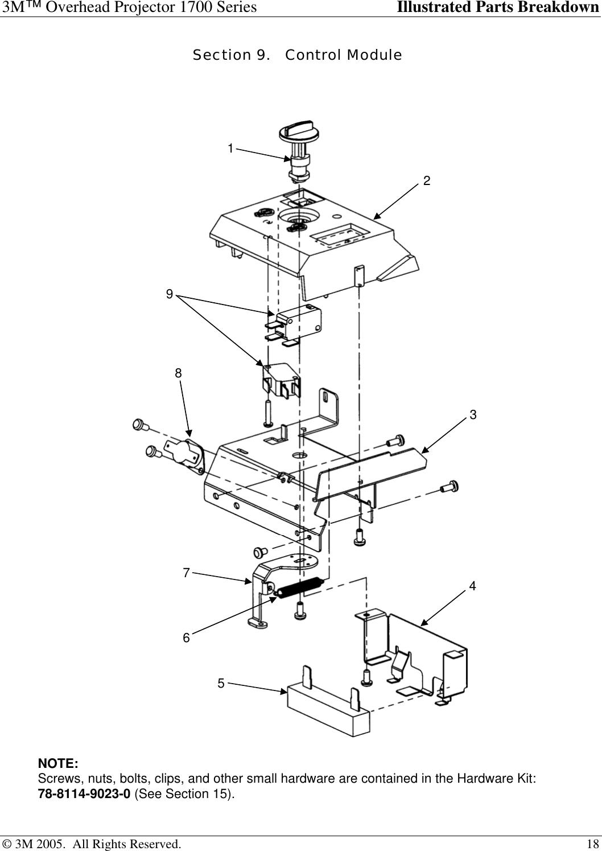 3M 1700 Overhead Projector 1706 Users Manual 1700ipb4 6 05