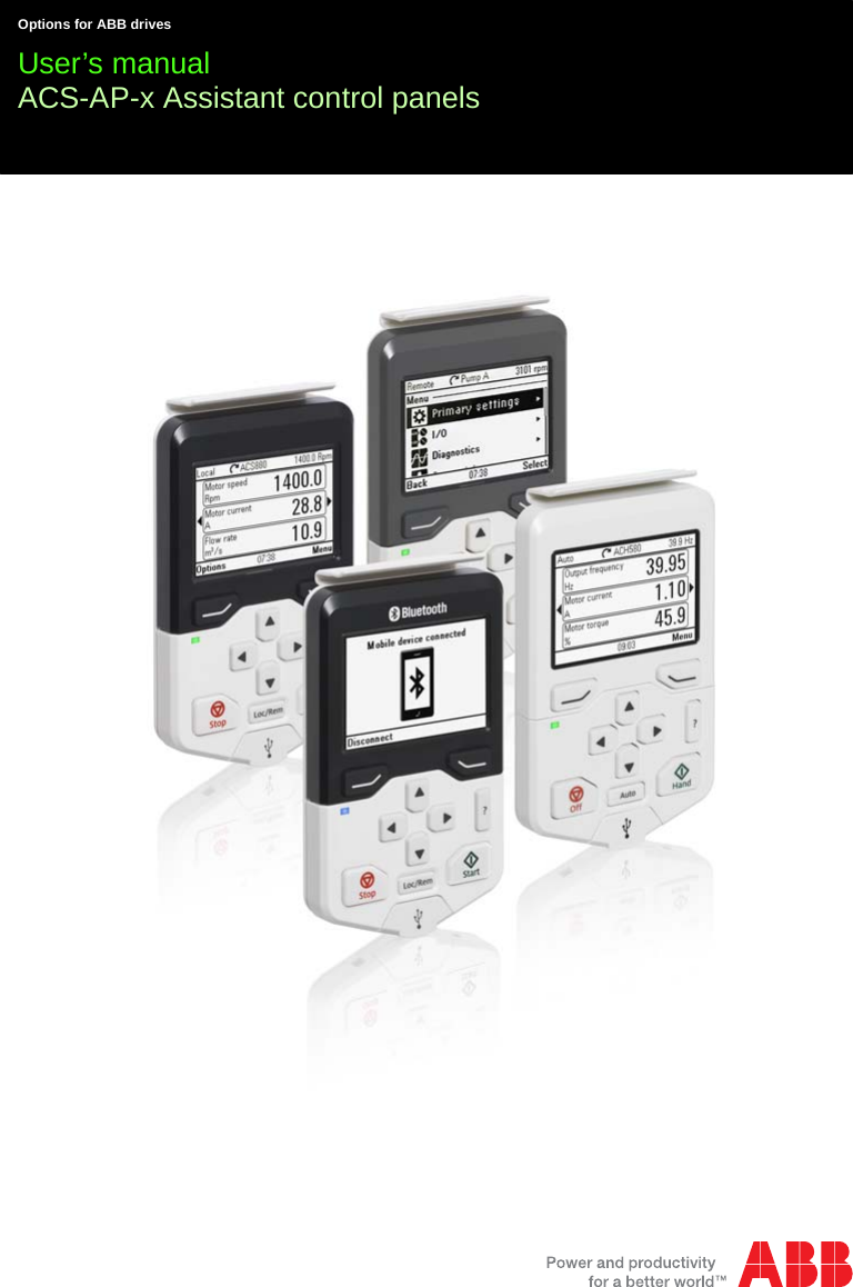ABB Drives APWSERIES Assistant Control Panel with Bluetooth ...