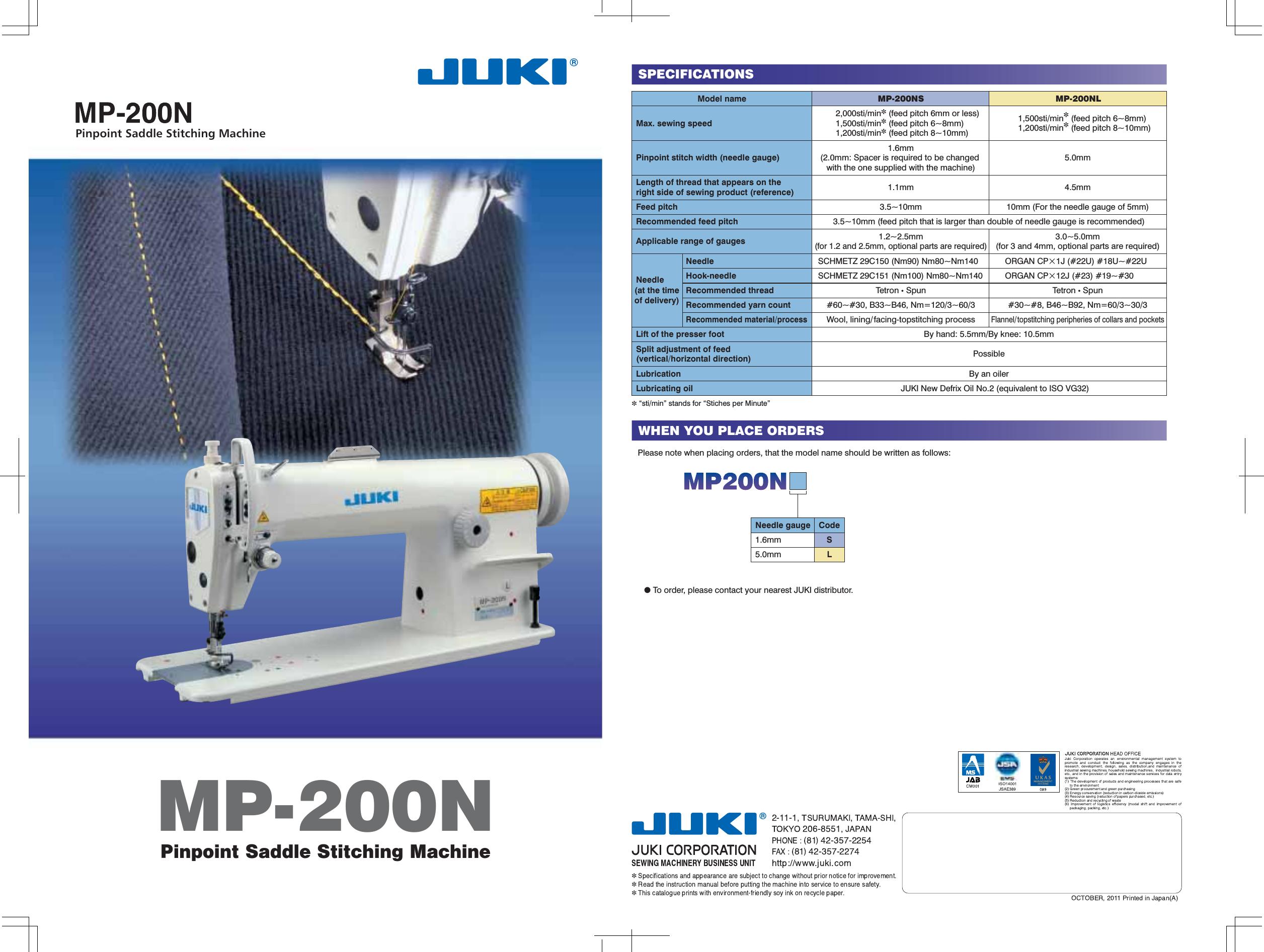 ACE&EASTMAN Mp200N MP 200N User Manual