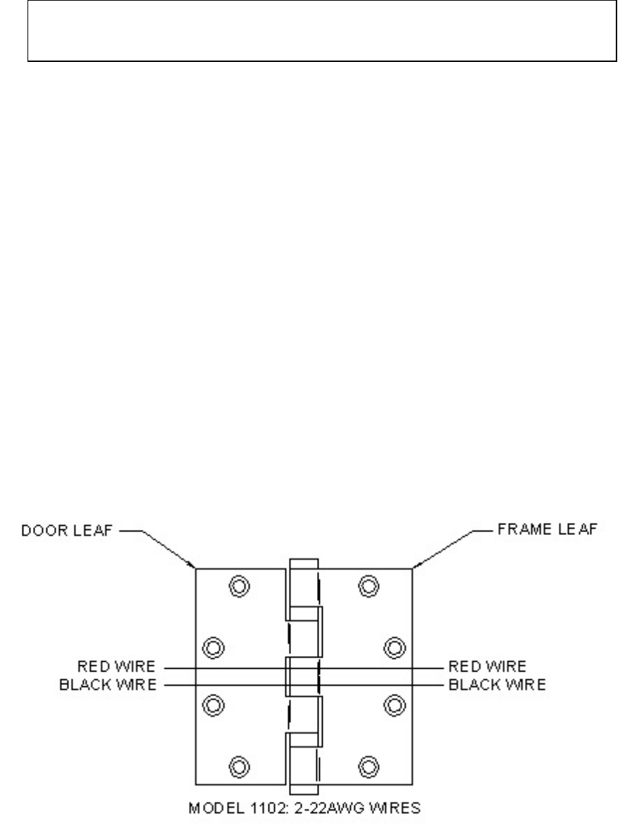 ACSI II – 1100 4 Concealed Electric Through Wire Hinges