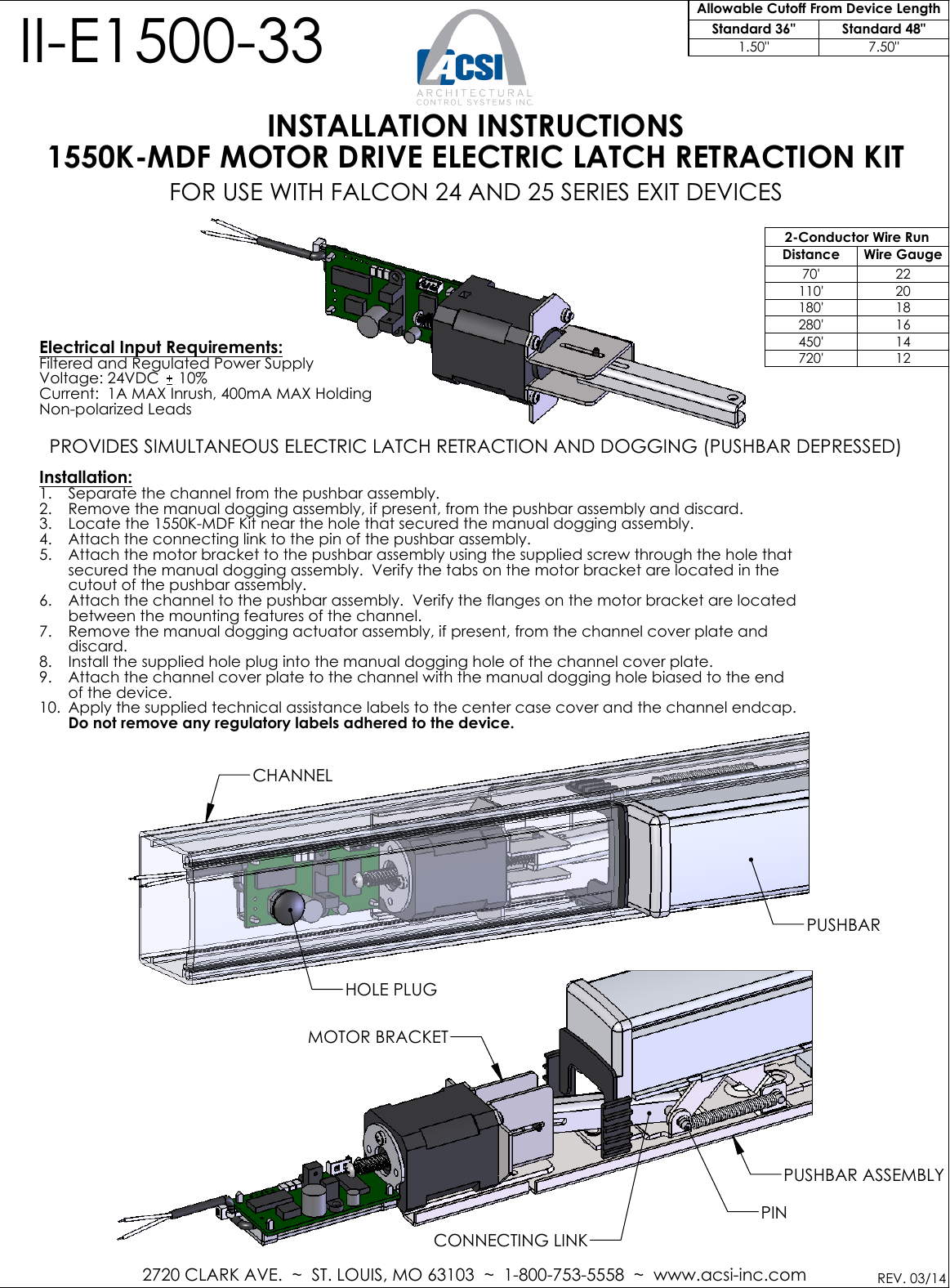 Acsi Ii E1500 33 1550k Md Falcon 2014 03 24 25 Series Mdf Wiring Diagram