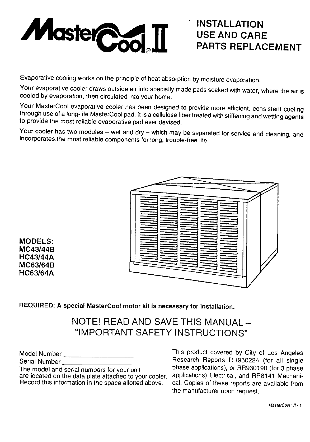 Swamp Cooler Power Supply Wiring Diagram Adobeair Evaporative Manual L9070130 Hc43a Adobe Aire Manuals And Guides View The Owners For Your