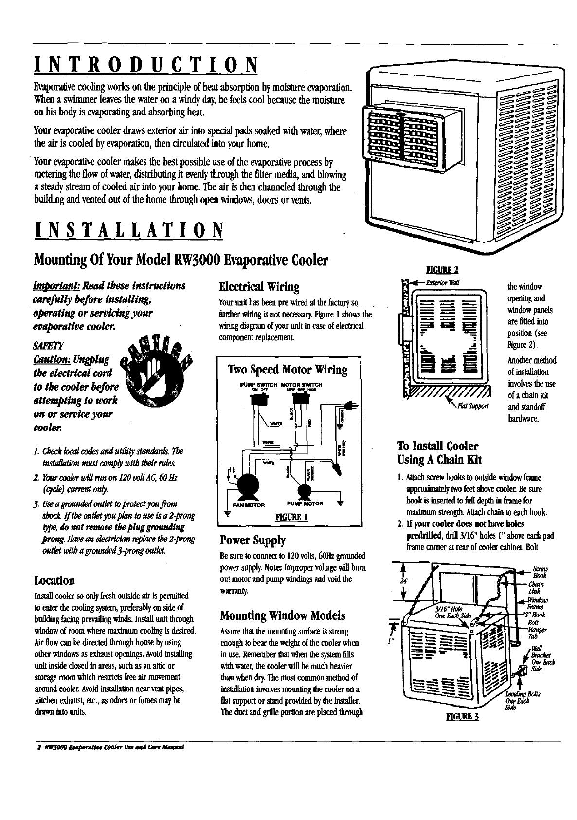 Adobeair Evaporative Cooler Manual L9070131 No Pump Swamp Motor Wiring Diagram Introduction