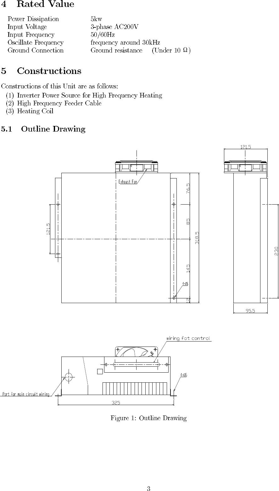 Akai Electronic Industry Akhfih0530k Induction Heating Unit User Diagram