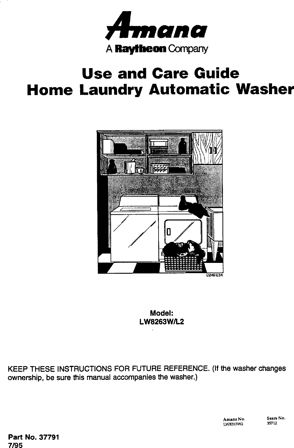 Amana Residential Washers Manual L0407326 Refrigerator Wiring Diagram On Oil Furnace Older