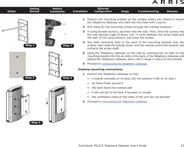 arris group tg1672 touchstone telephony gateway user manual ... modem tg1672 wiring diagram  usermanual.wiki