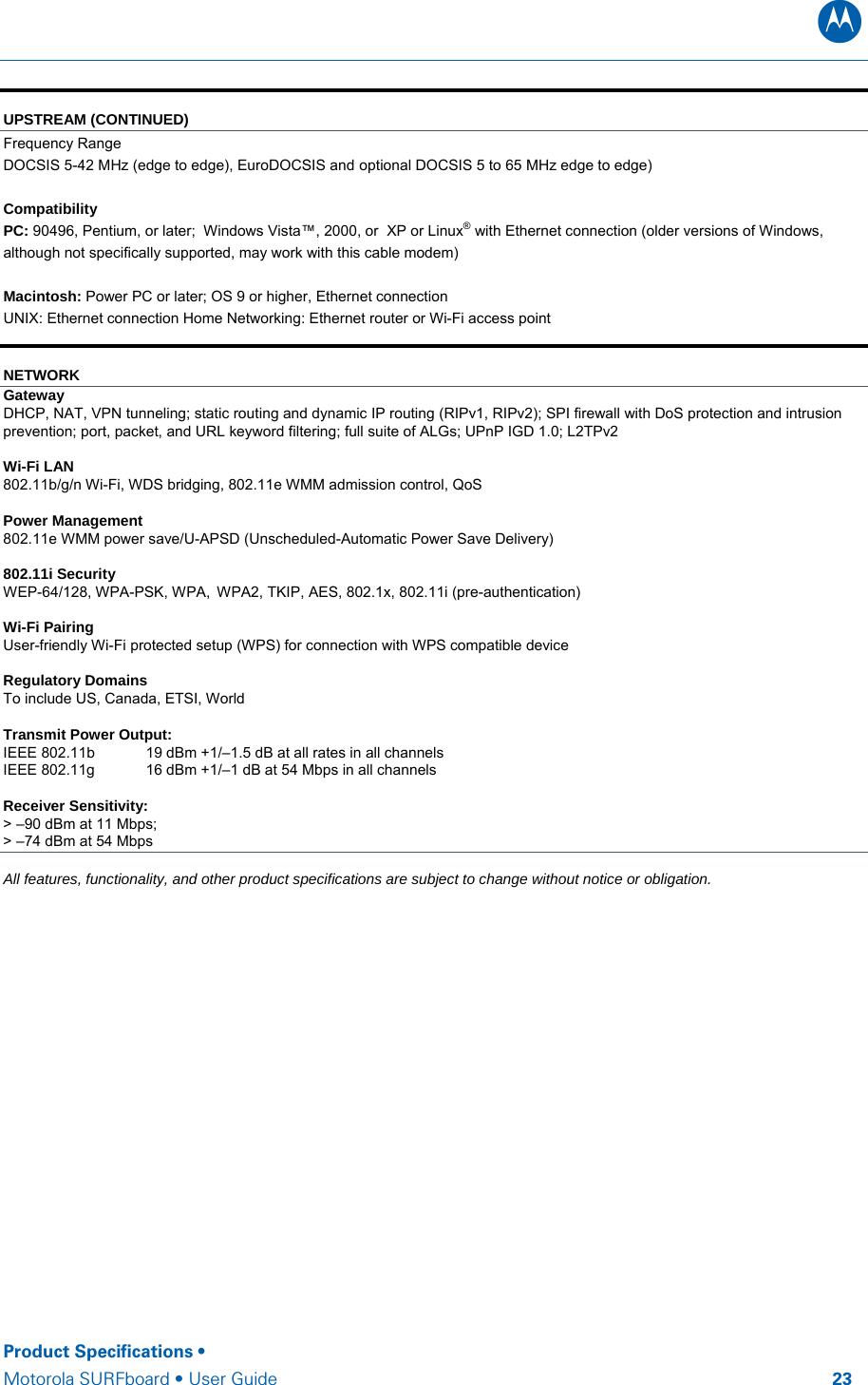 Arris Sbg6580 G228 Docsis 3 0 Wi Fi Gateway User Manual