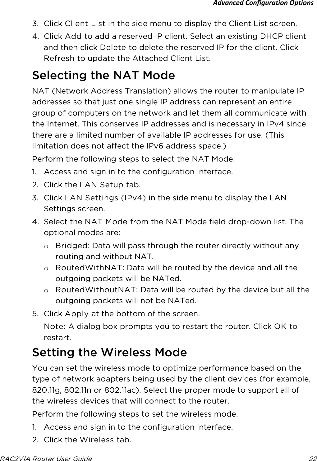 ARRIS TR4400 802 11ac Wireless Router User Manual User Guide