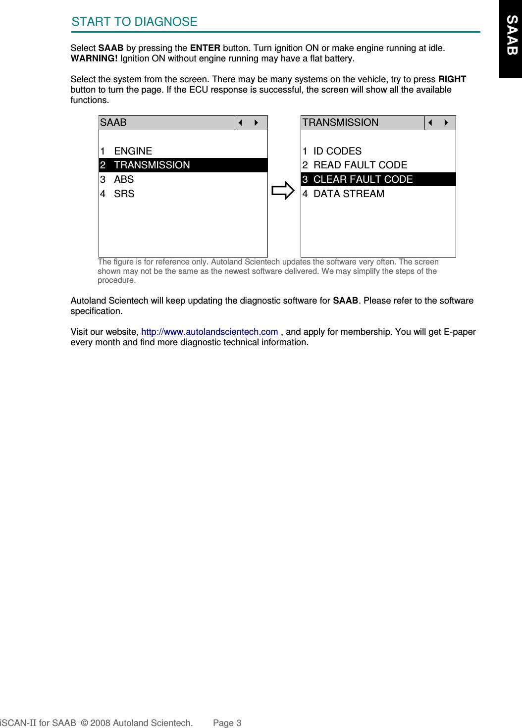 AUTOLAND SCIENTECH ISCANII-BU Car Diagnostician User Manual