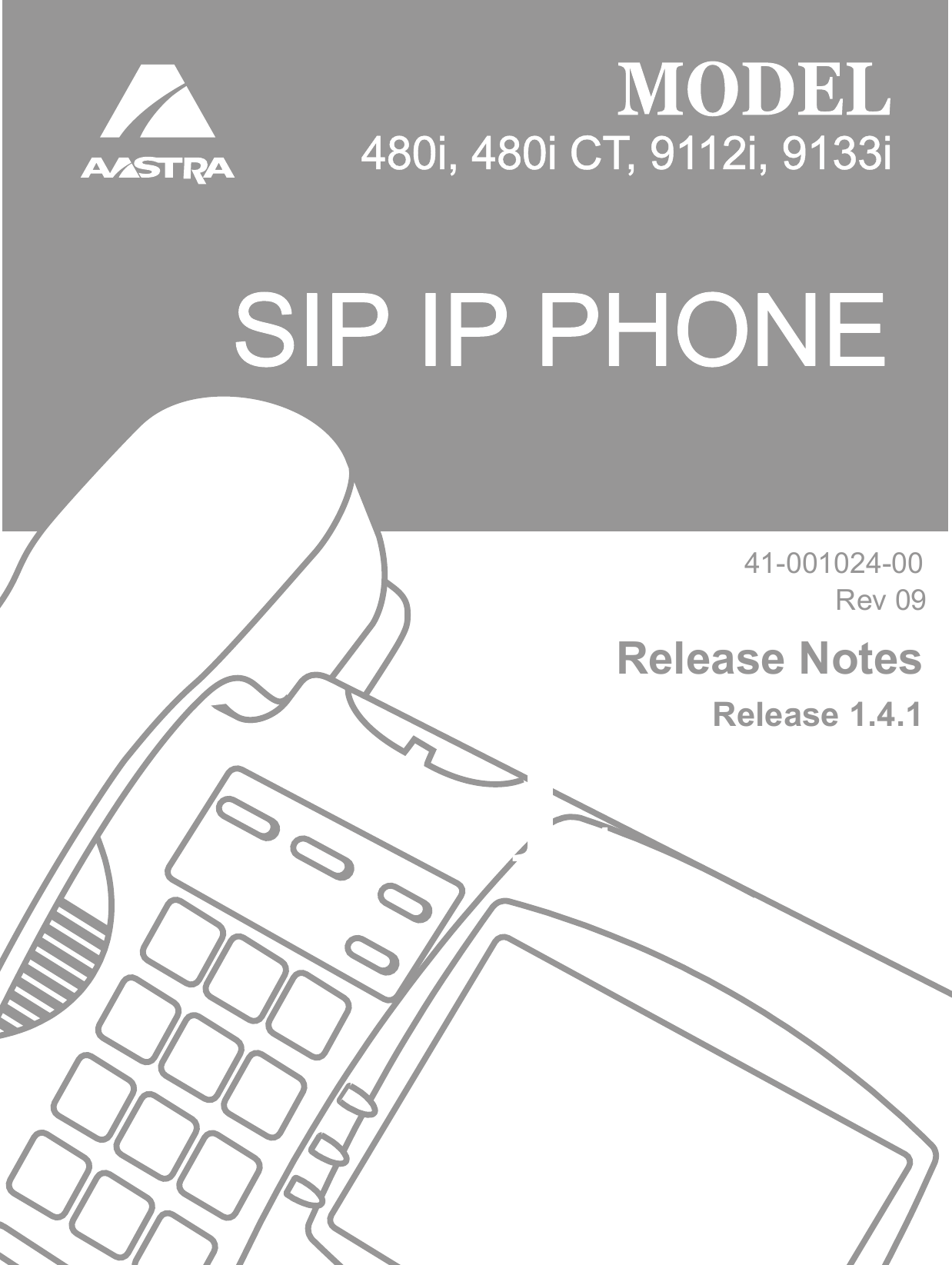 Aastra 480I Users Manual Generic IP Phone 141 RN