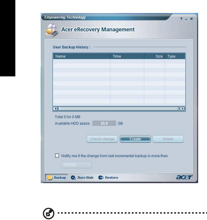 acer erecovery management password vista