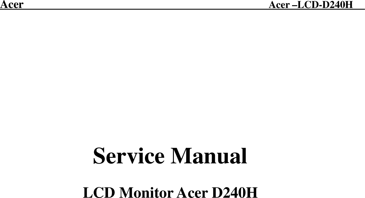 ACER D240H DRIVERS UPDATE