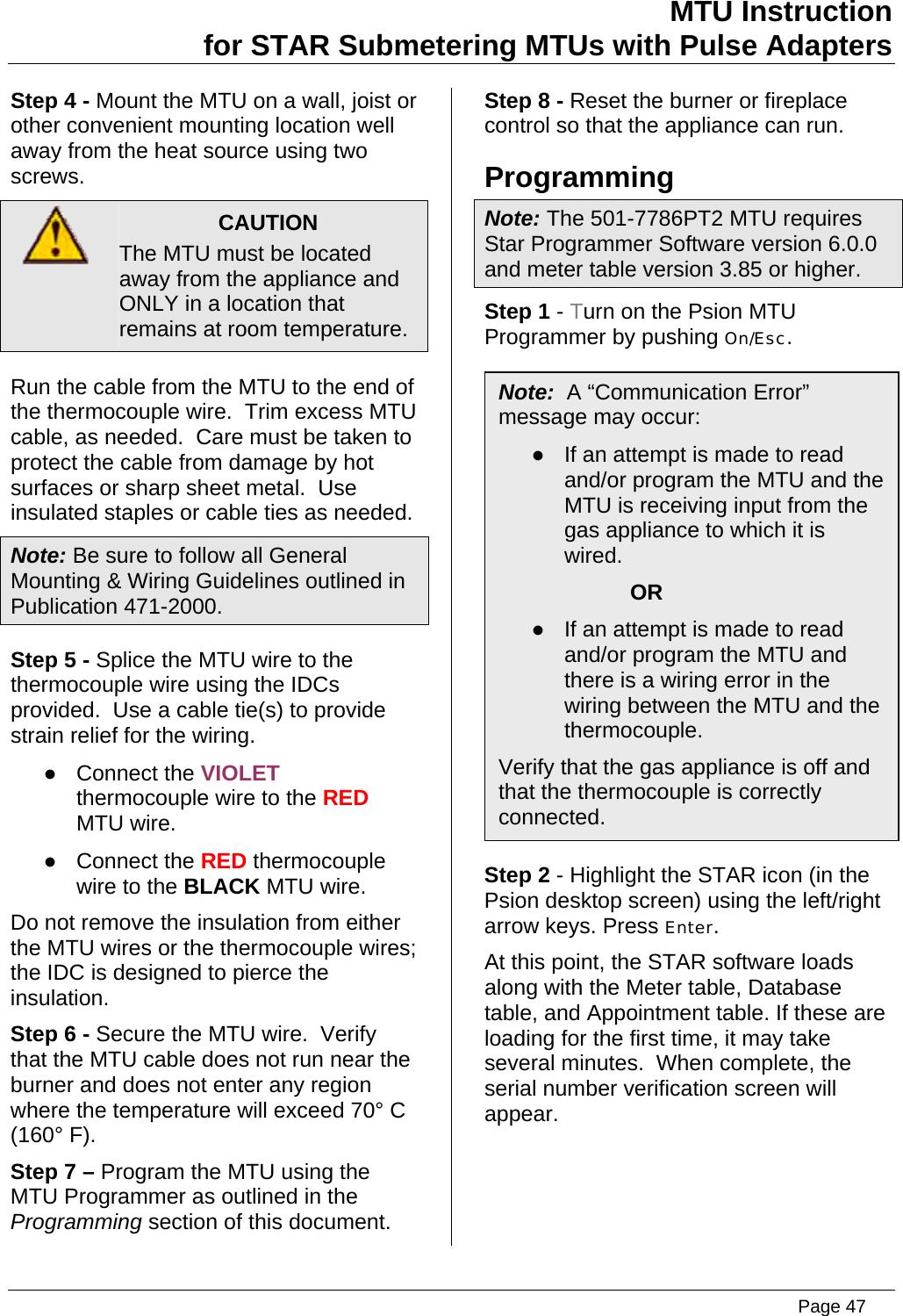 Aclara Technologies 09014 TRANSMITTER FOR METER READING User
