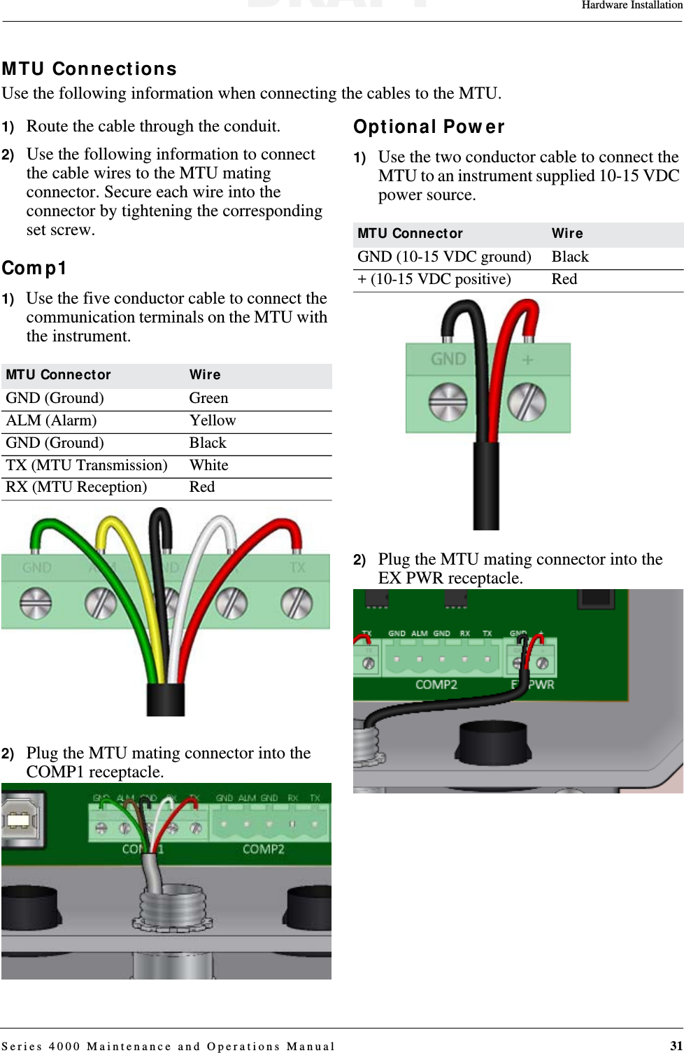 Aclara Technologies 2015001 Series 4000 MTU User Manual