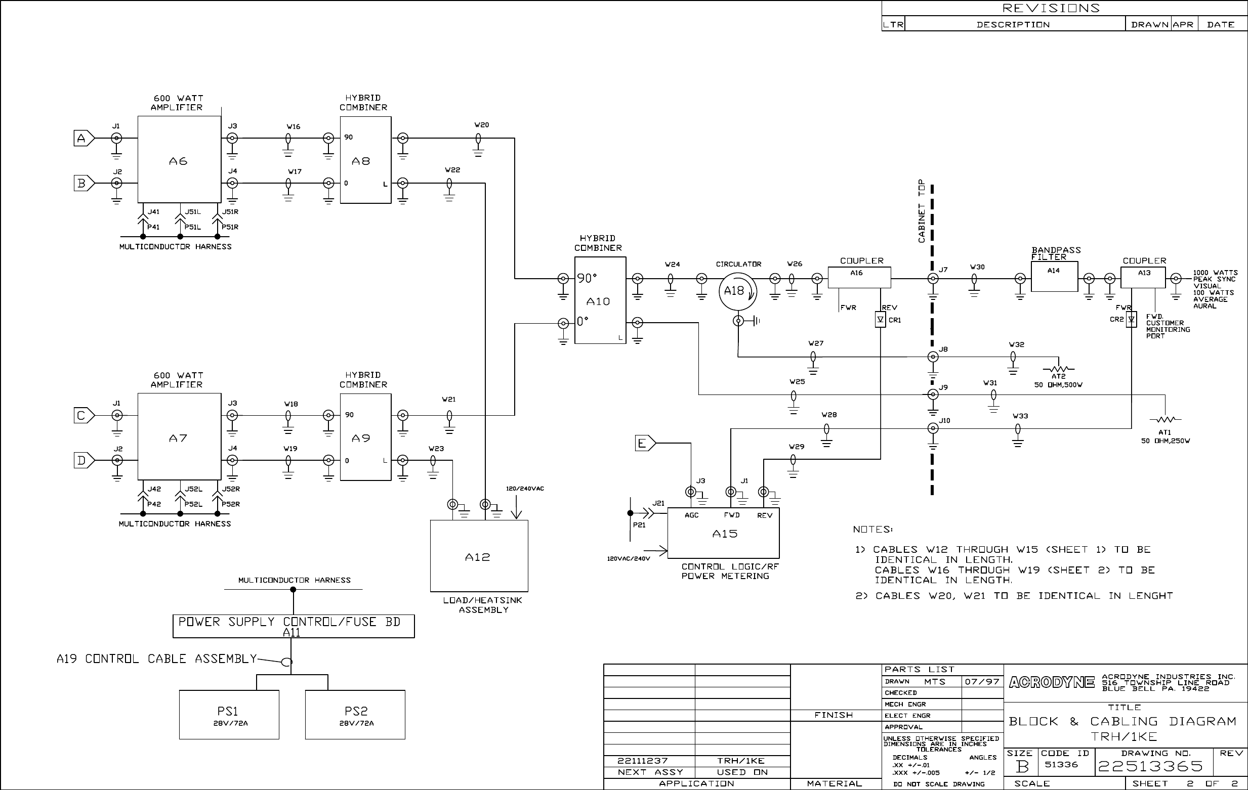 Acrodyne 22802332 Broadcast Television Transmitter User Manual Trh1ke 3 120vac To 20v Dc Wiring Diagram