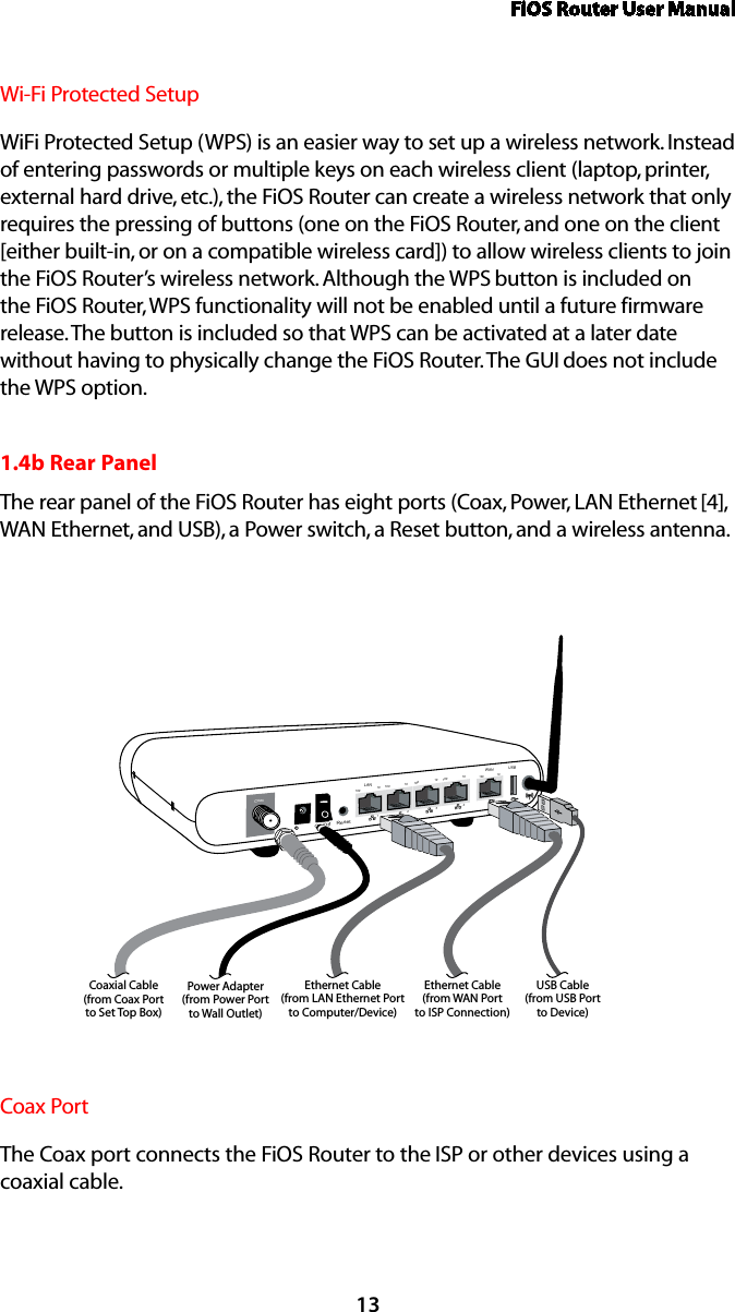Actiontec Electronics Mi424wrf Wireless 11n Broadband Home Router Wiring Diagram Fios User Manual13wi Fi Protected Setupwifi Setup Wps Is An Easier