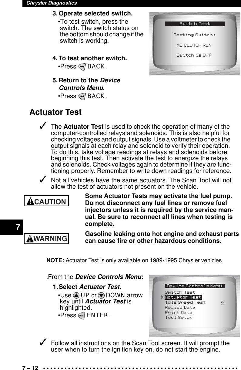 Actron Cp9190 Users Manual