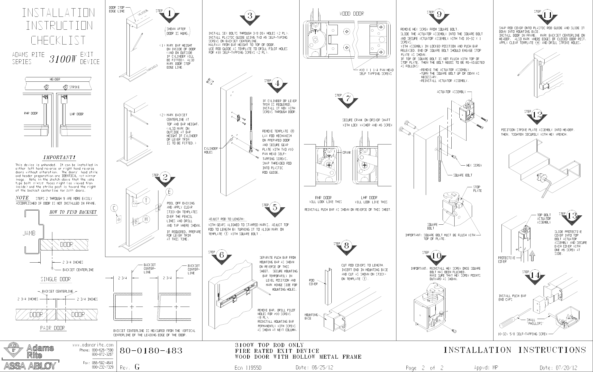 on fire rated door installation instructions