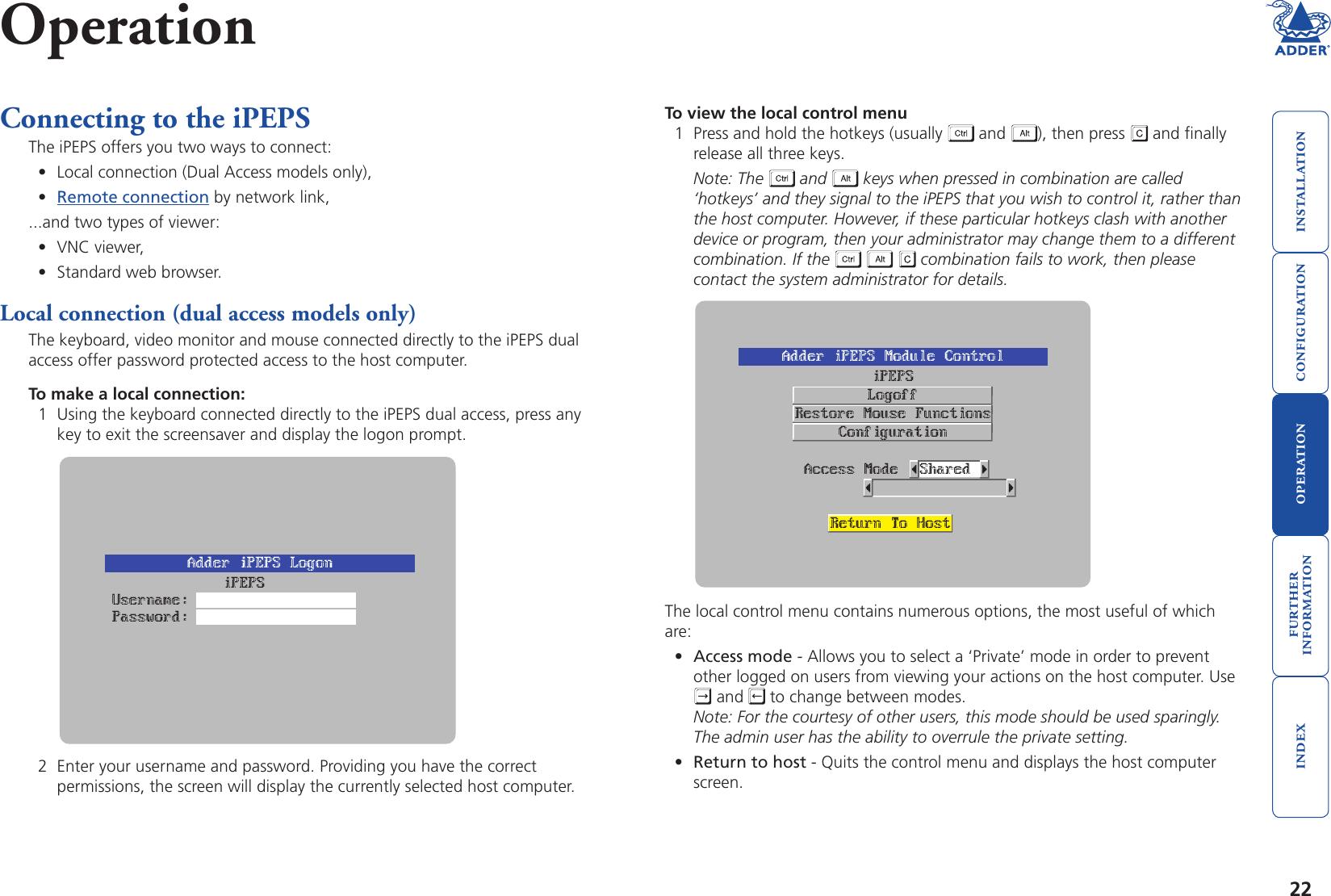 Adder Technology Adderlink Ipeps Users Manual