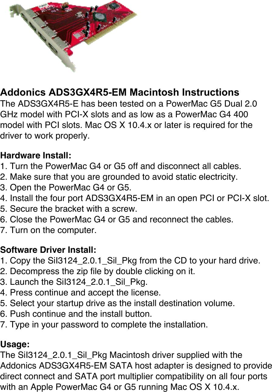 ADDONICS ADS3GX4R5-E WINDOWS XP DRIVER DOWNLOAD