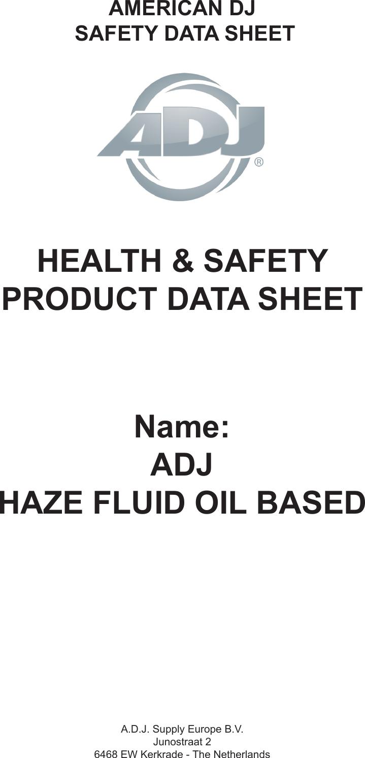 ADJ Haze Fluid Oil Based