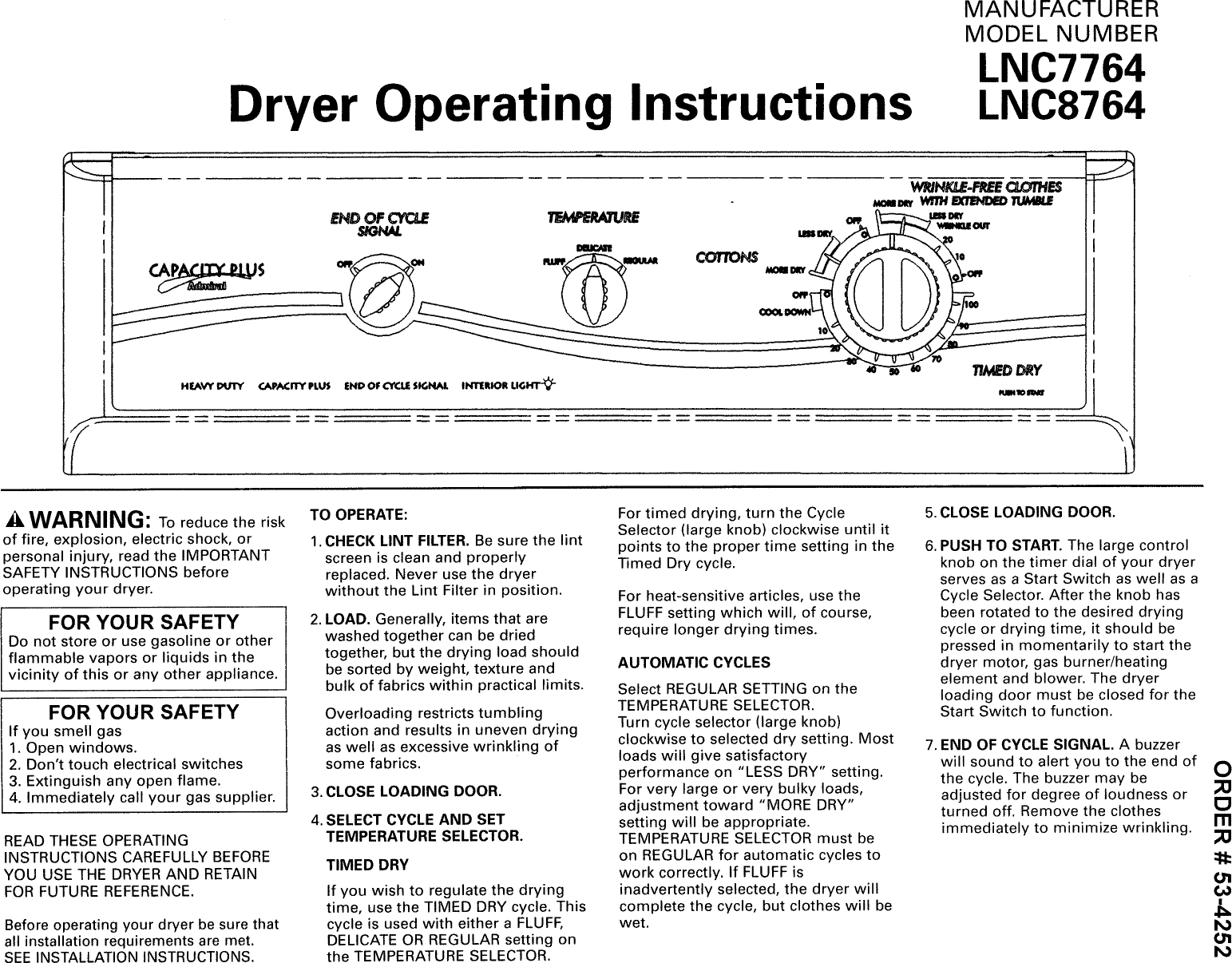 Manual Admiral Land Rover D90 O Demeter Wiring Diagram Array Lnc7764a71 User Dryer Manuals And Guides L0905177 Rh Usermanual Wiki