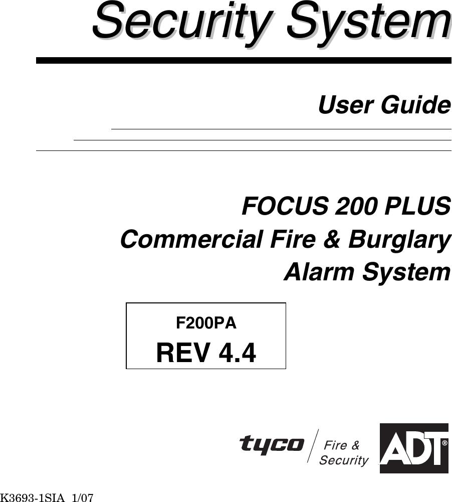 Adt Security Services Focus 200 Plus Users Manual K3693 1SIA_ug | Adt Focus 200 Wiring Diagram |  | UserManual.wiki