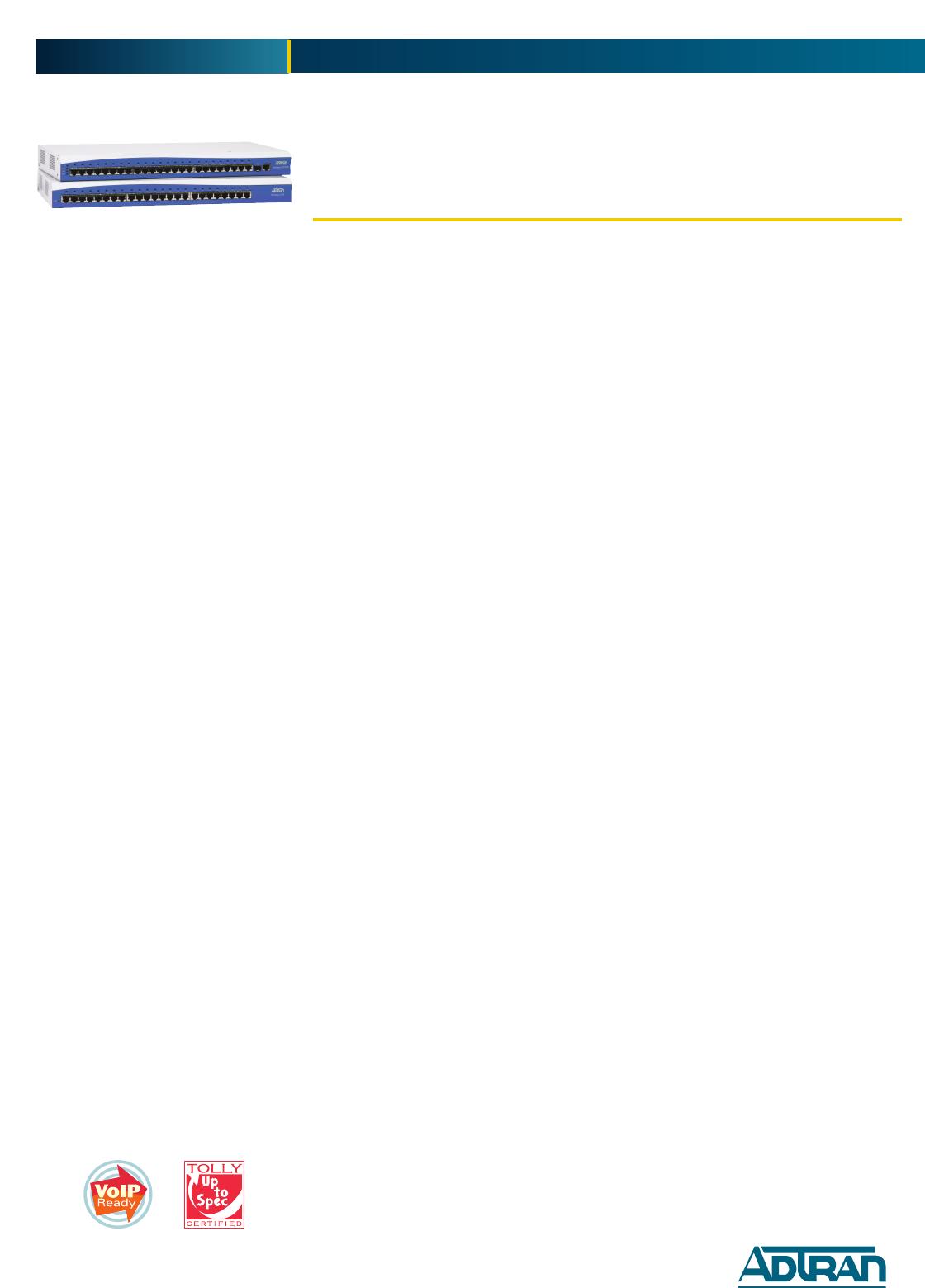 ADTRAN NETVANTA 1224 1200500L1 FAST ETHERNET SWITCH