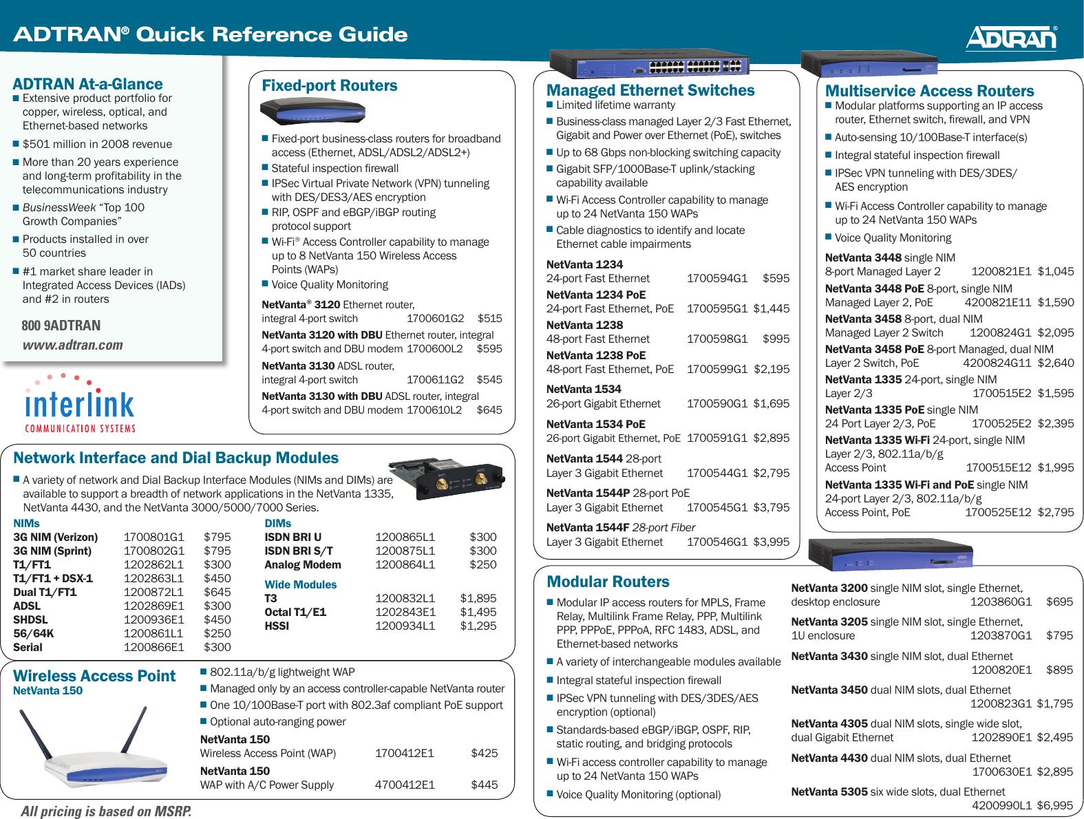 Adtran Netvanta 3120 Users Manual