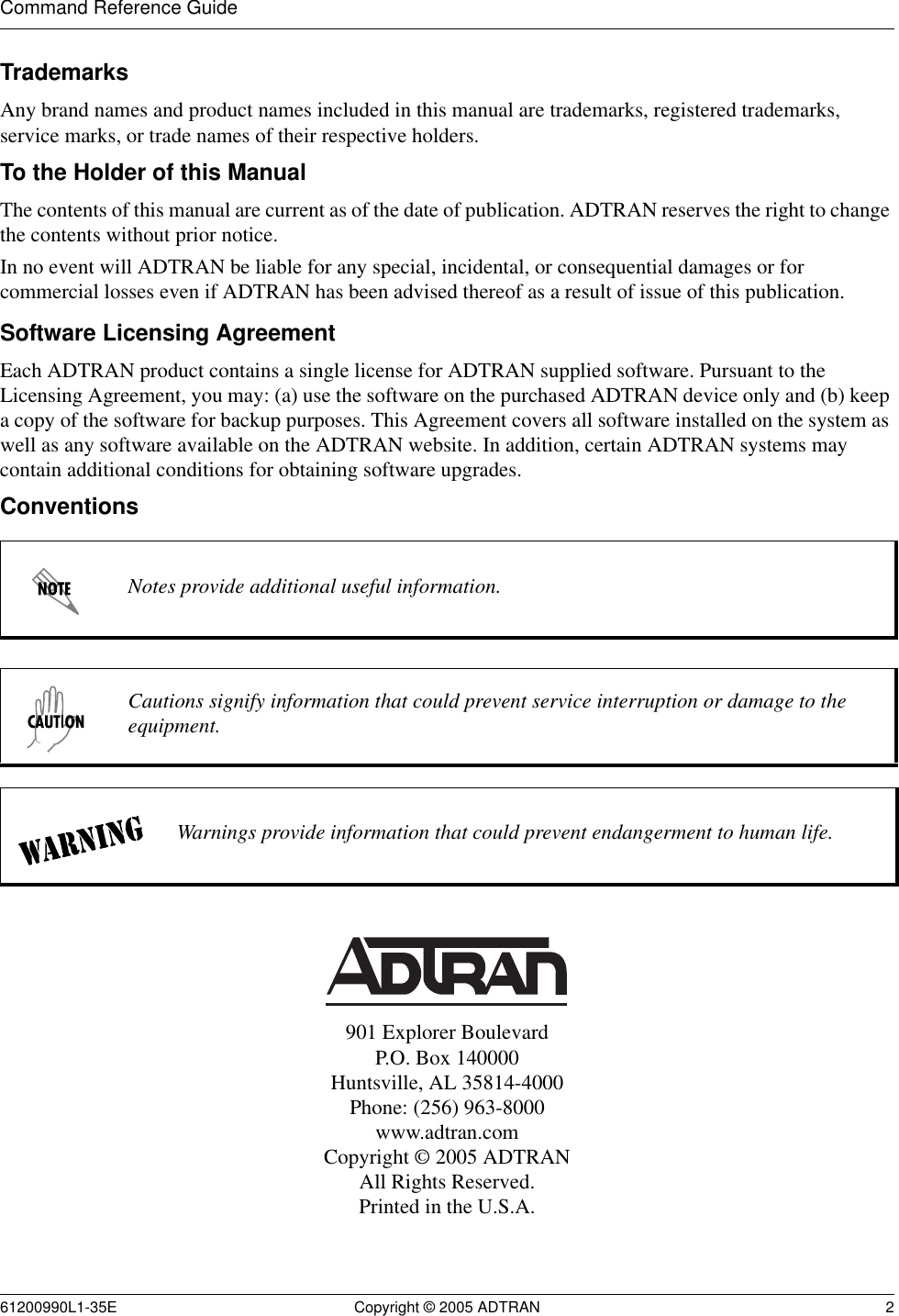 Adtran Total Access 5000 Command Reference Manual