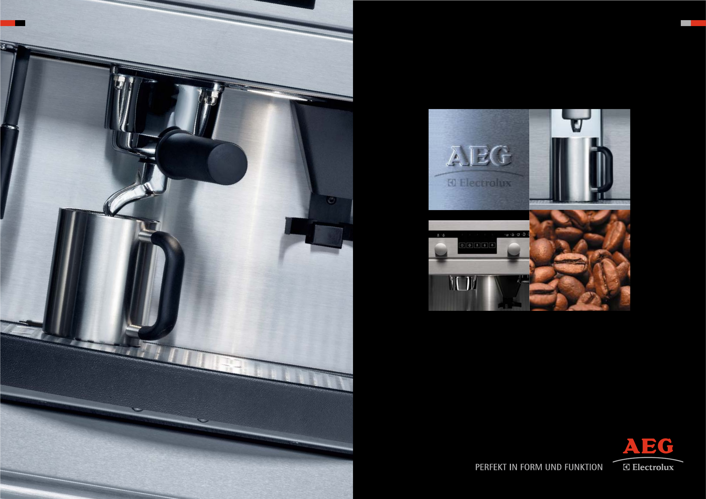 Aeg Coffee Machines Users Manual 48888 Mg Built In Brochure 2008