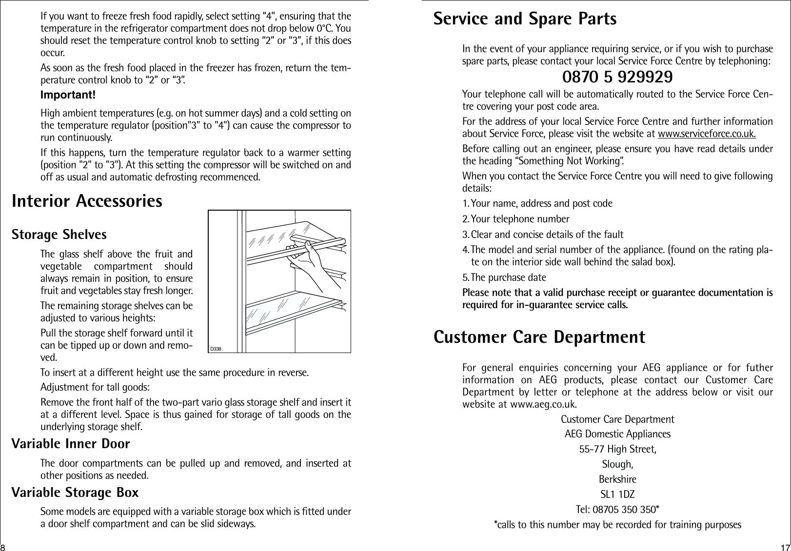 Aeg Santo C 8 18 43 4I Users Manual