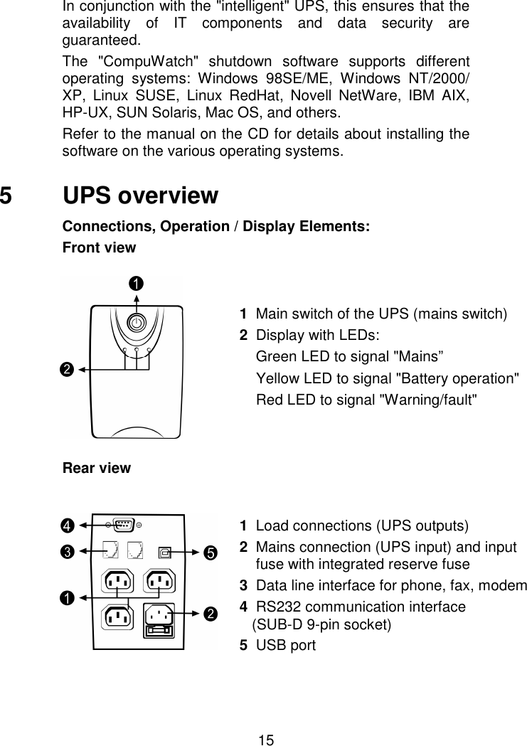 Aeg Ups Protect A 500 Users Manual For A 500/700 (EN)