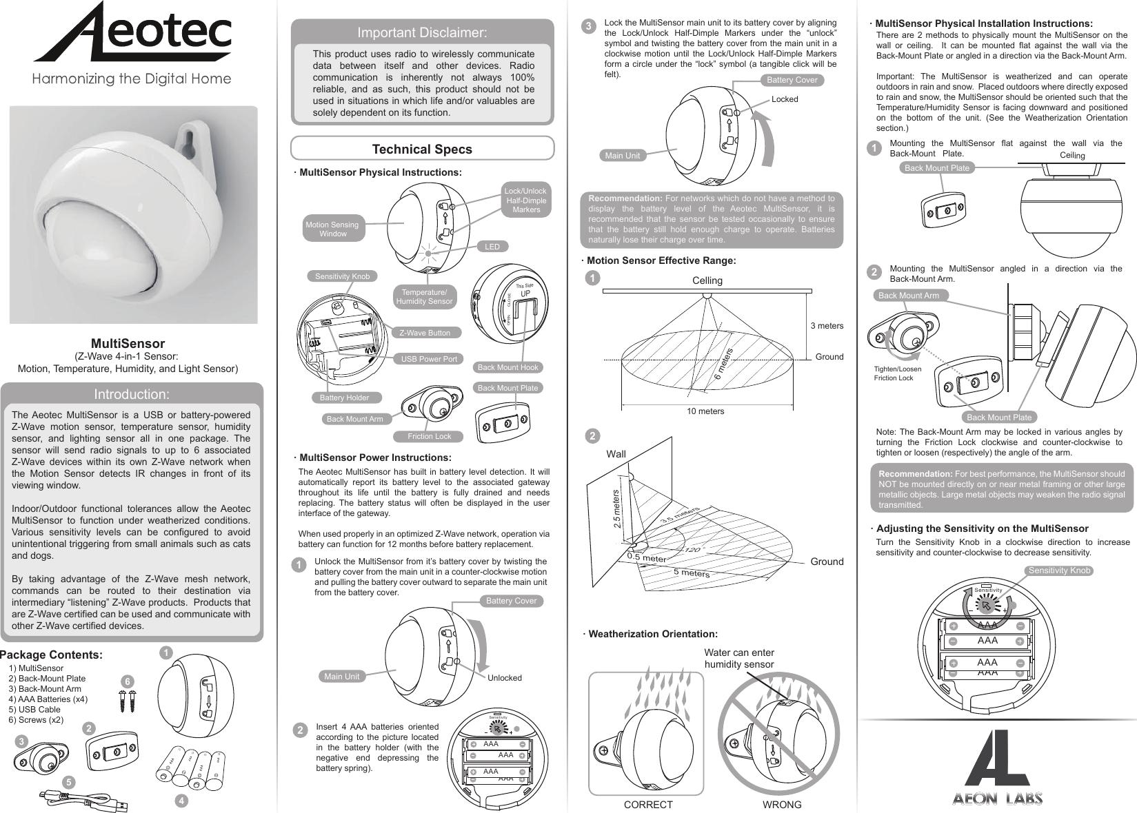 Aeotec multisensor 6.