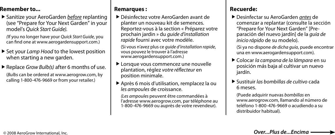 Page 2 of 2 - Aerogarden Aerogarden-6-And-7-Pod-s-Users-Manual-  Aerogarden-6-and-7-pod-s-users-manual