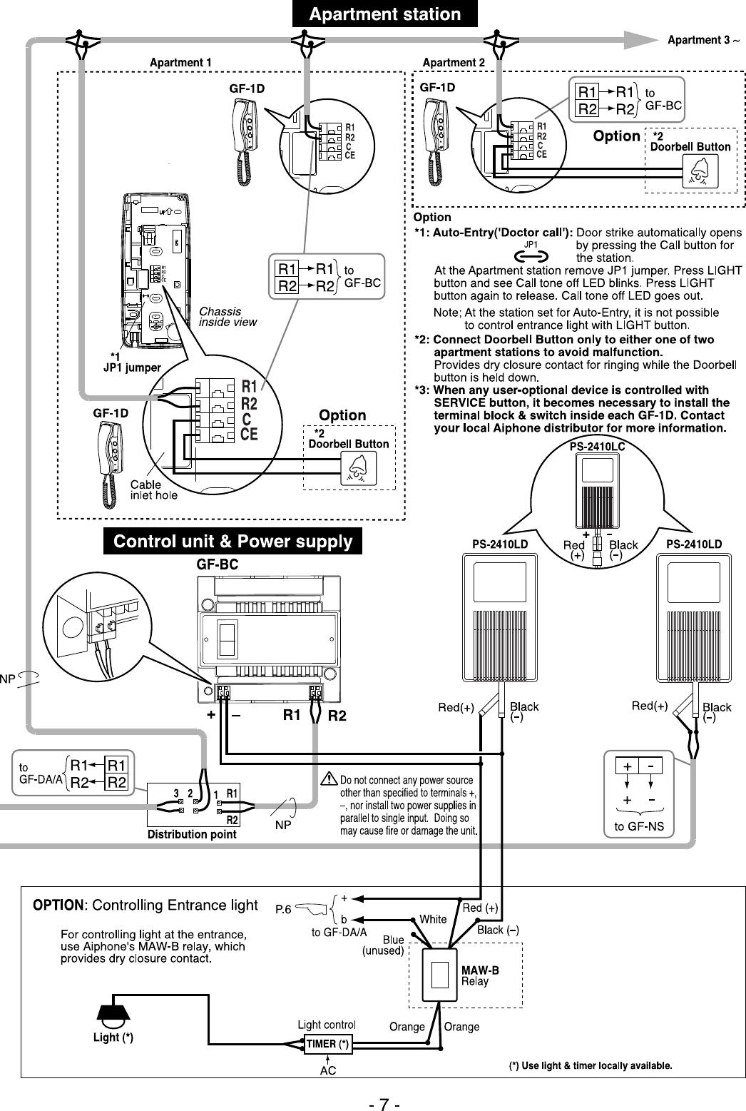 aiphone wiring diagram gf