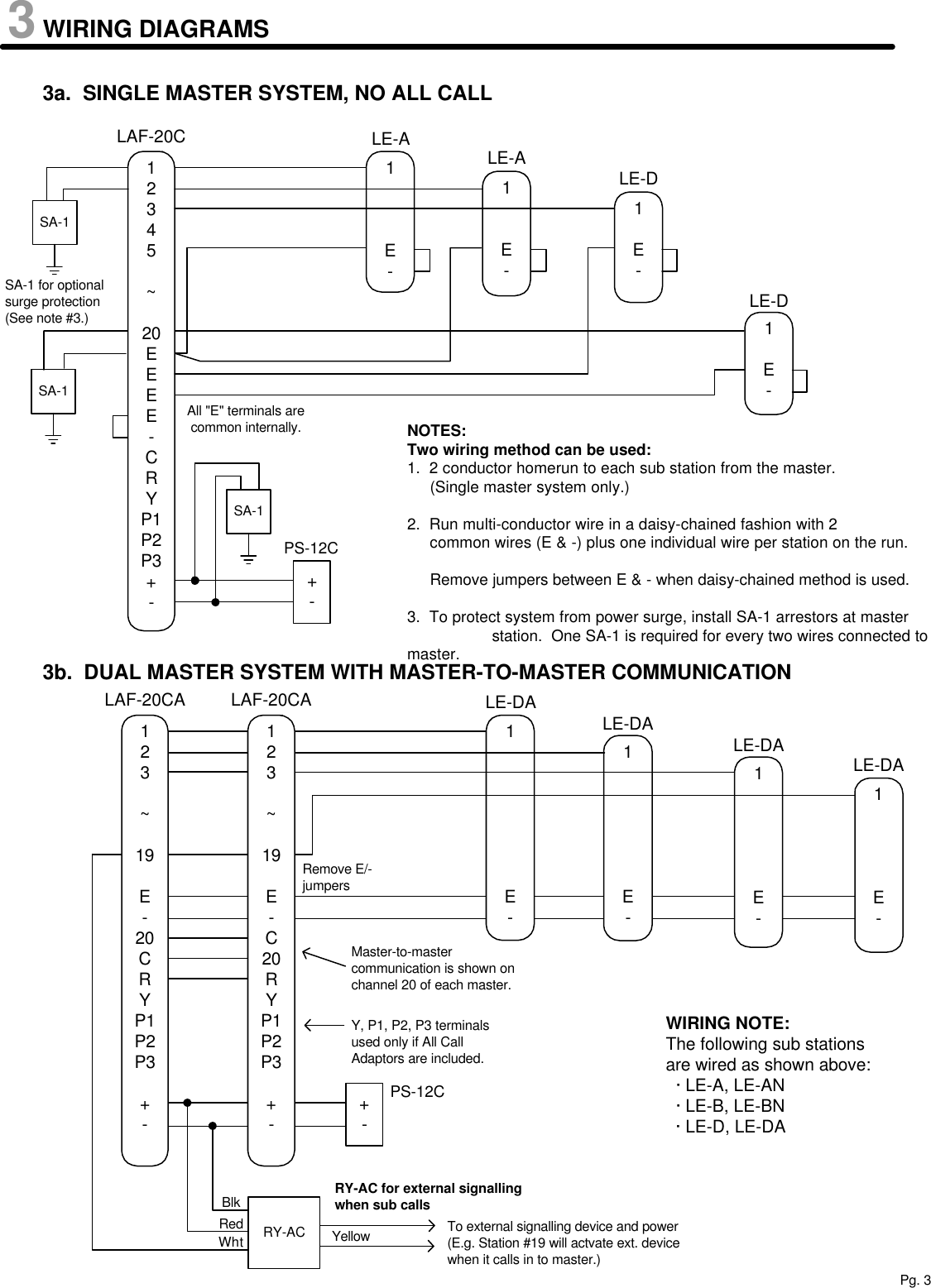 Aiphone Laf 20c Users Manual Visio C Wiring Diagram Page 3 Of 8
