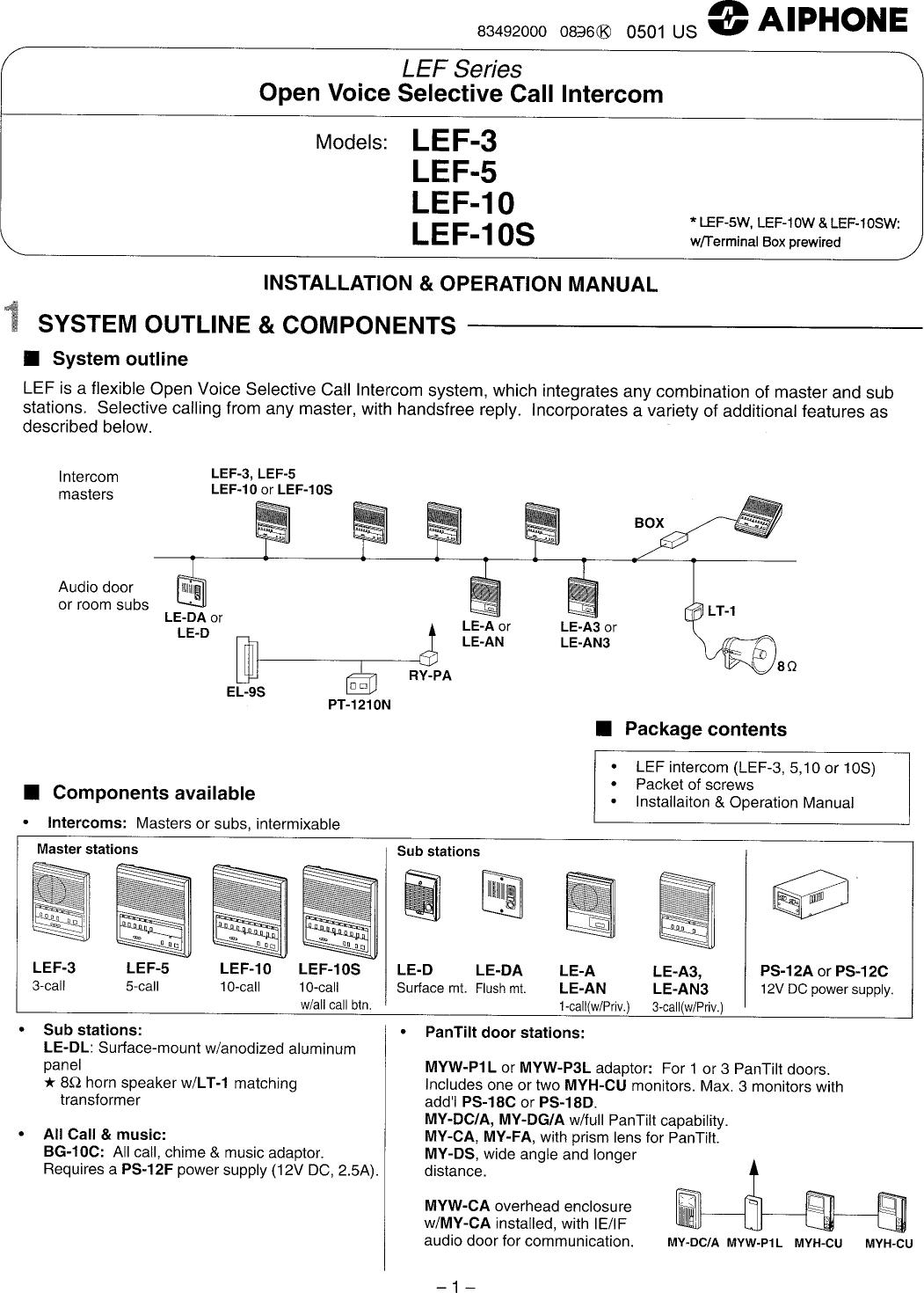 aiphone lef 10s user manual to the b7c459df 1ea2 4dab 9598 13ba76f2796d rh usermanual wiki Aiphone Lef 3 Wiring Diagram Aiphone JK Series