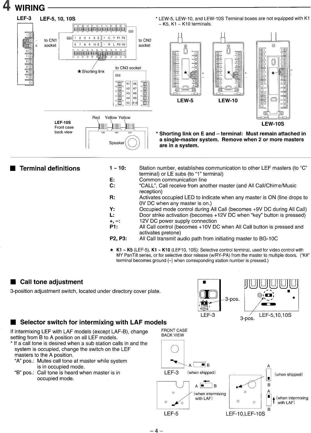 Aiphone Lef 10s User Manual To The B7c459df 1ea2 4dab 9598 13ba76f2796d 5 Wiring Diagram Page 4 Of 12