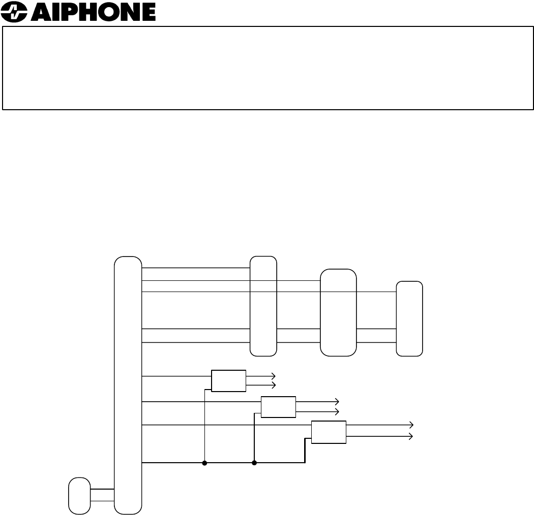 Aiphone Sheet Lef 1309 Selective Door Release 3l Wiring Diagram Instructions