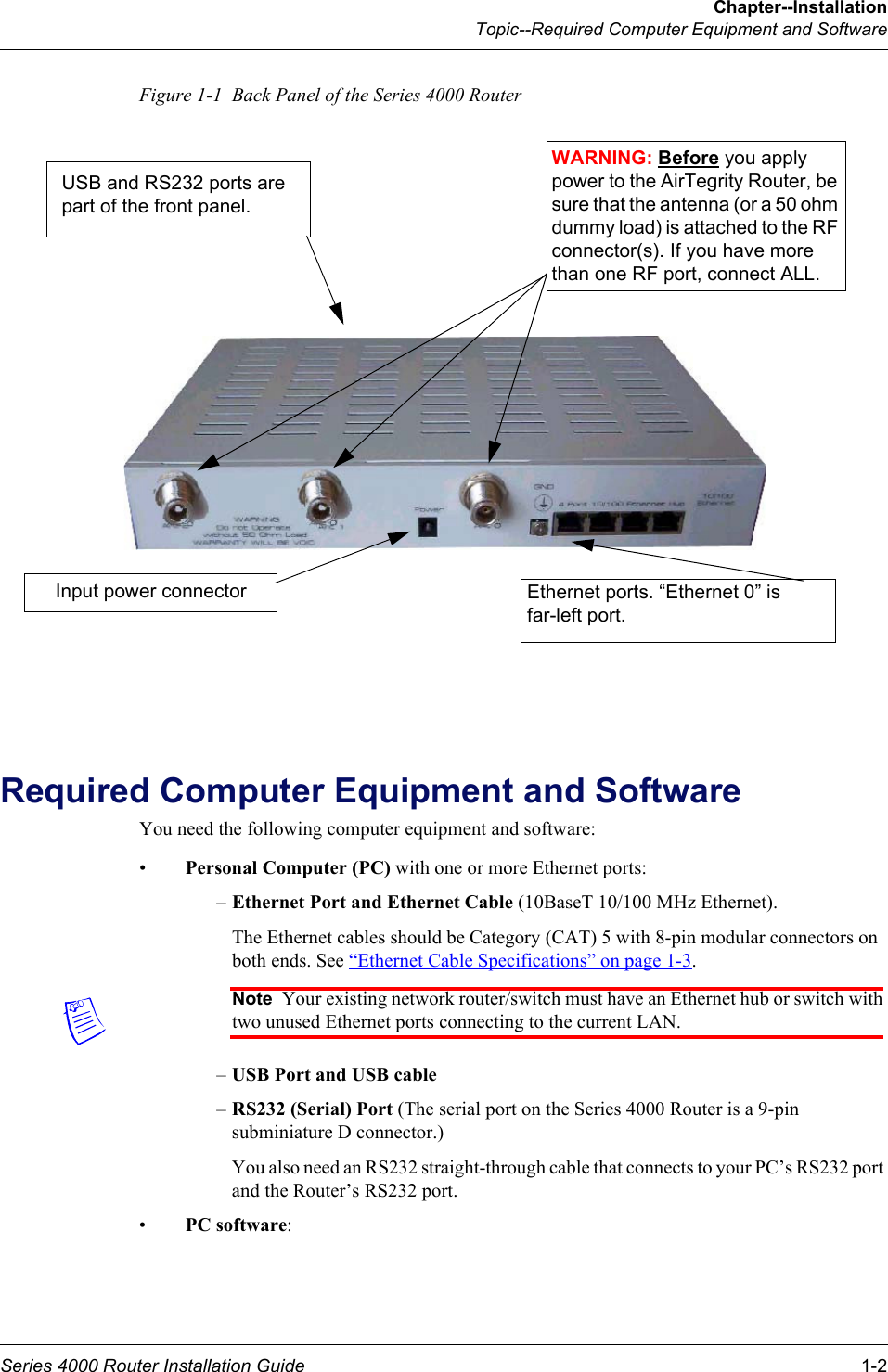 Airtegrity Wireless 3000 2024 15 Cpe Access Pointw 80211b Wiring Diagram On Straight Through Ether Pin Out Chapter Installationtopic Required Computer Equipment And Softwareseries 4000 Router Installation Guide 1