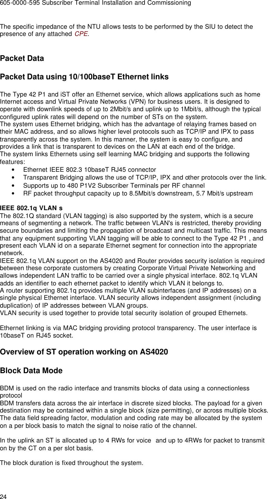 Airspan Communications STODU-PCS Subscriber Terminal User