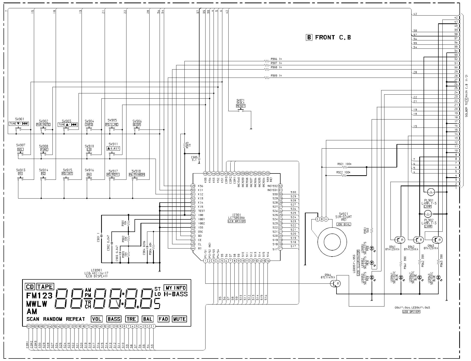 Aiwa Cdc Z107 Users Manual Akchr1a4 Block Diagram Ks1 Schematic 3 Front