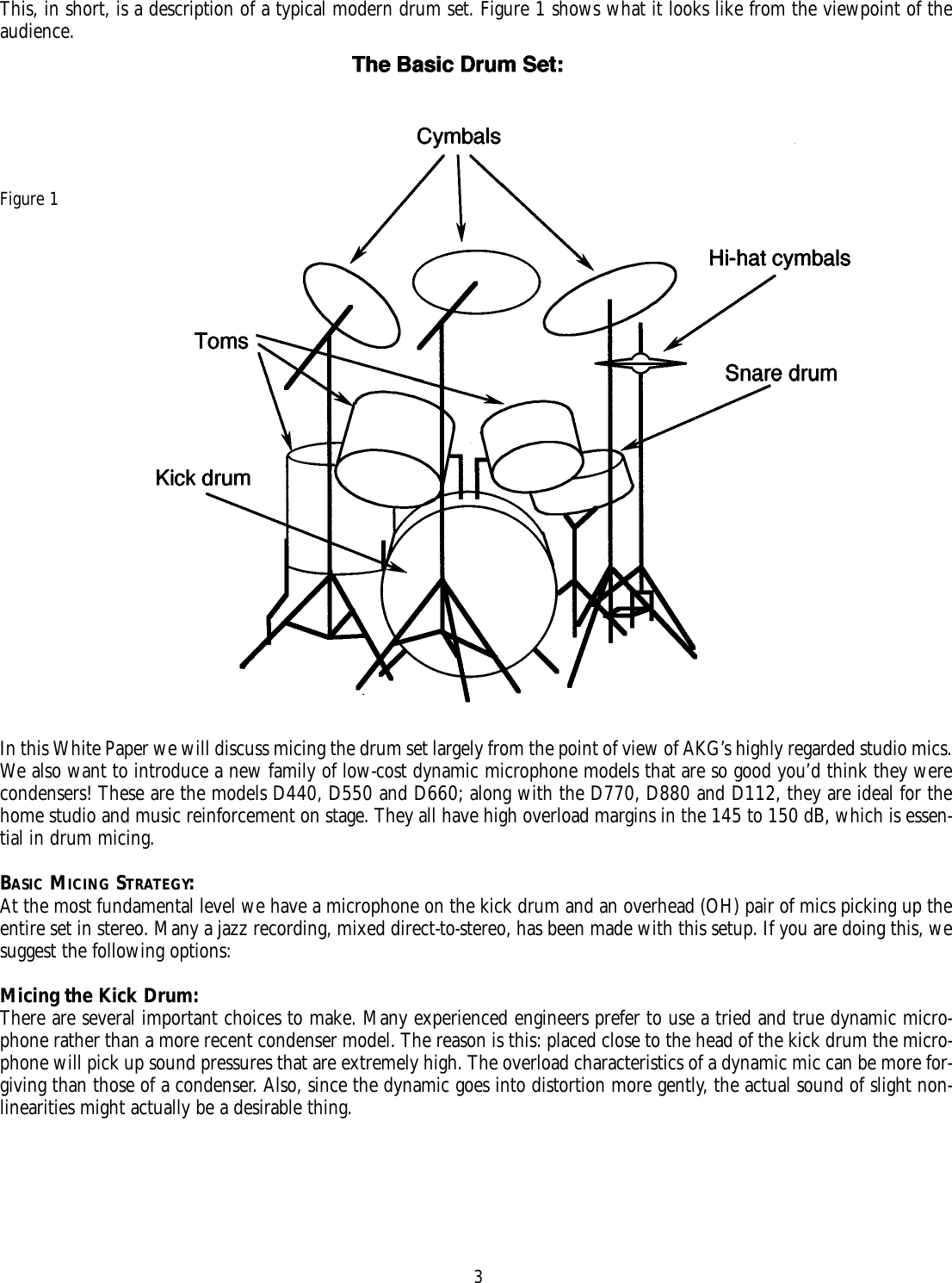 Akg Acoustics Micing Users Manual Snare Drum Diagram Page 3 Of 12