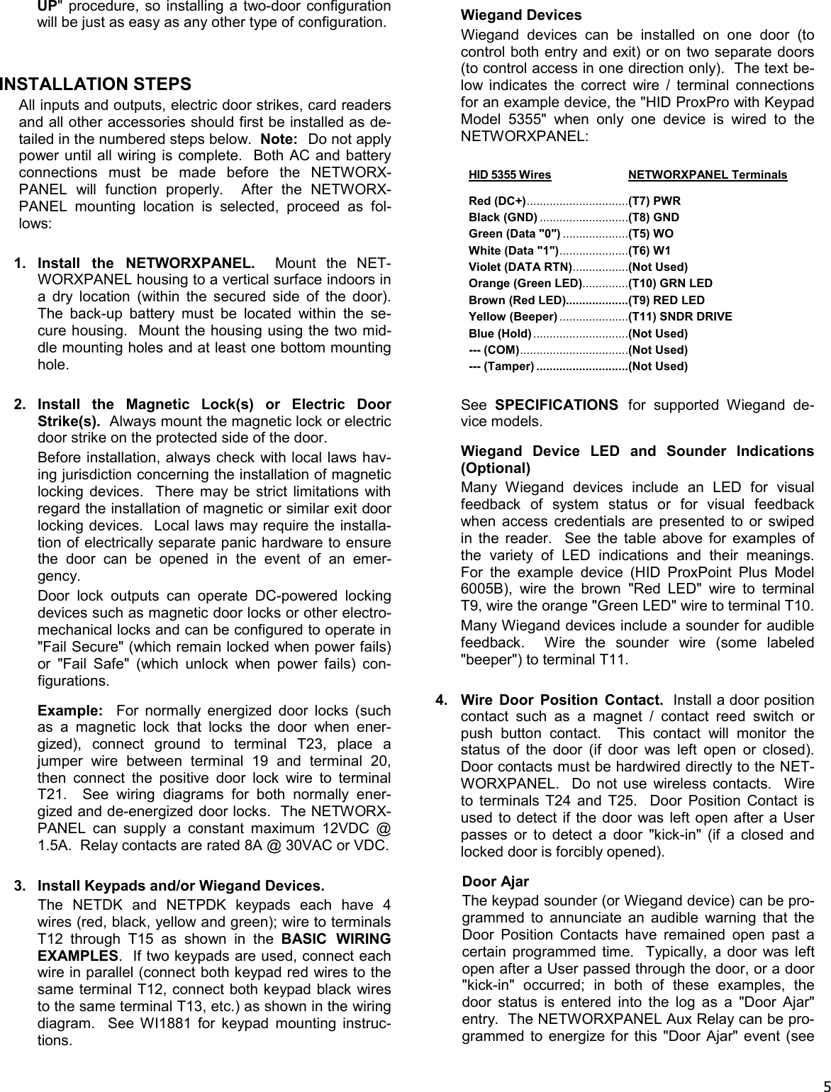 Alarm Lock Networxpanel Wi1856b02 Inst Wireless Hid Reader Wiring Diagram Page 5 Of 12 Networx Control Panel