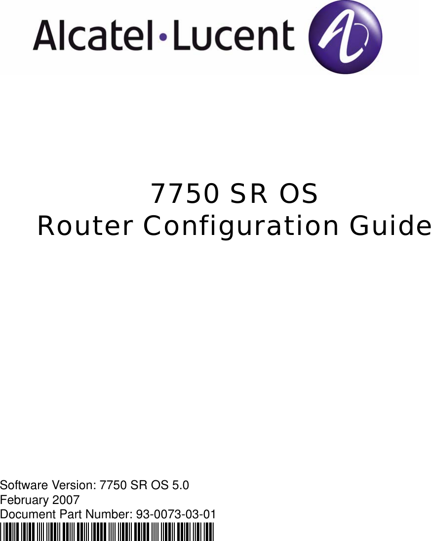 Alcatel Lucent 7750 Sr Os Users Manual RouterGuide