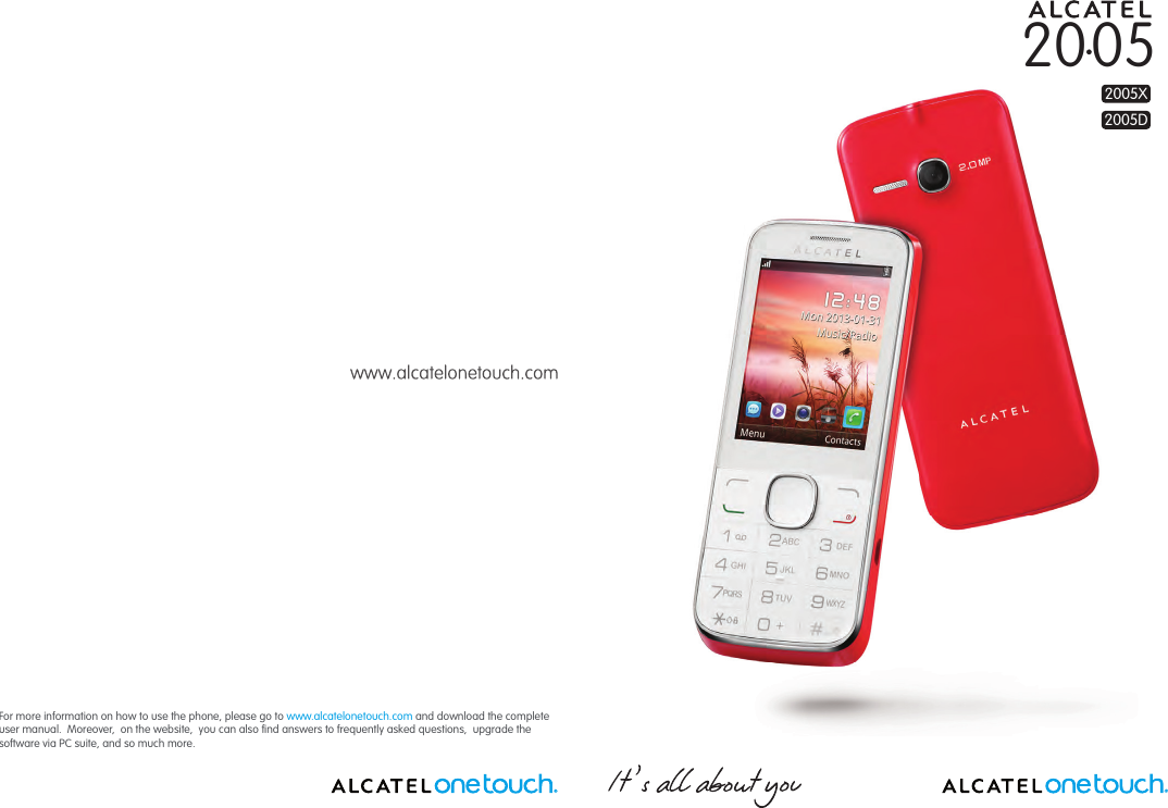 Alcatel Onetouch 2005 Owners Manual IP4605